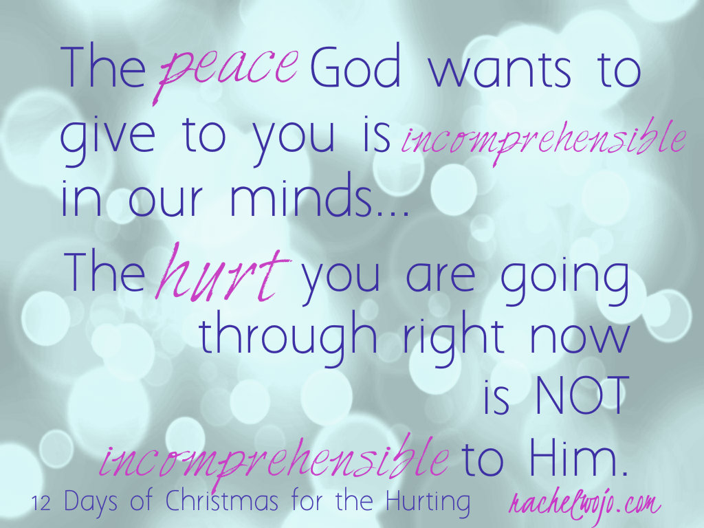 God wants to give you peace