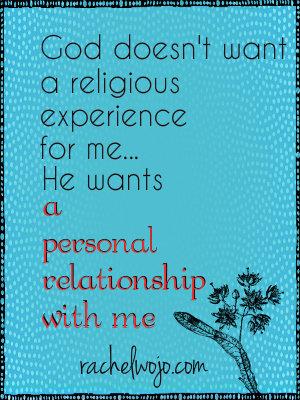 god wants relationship