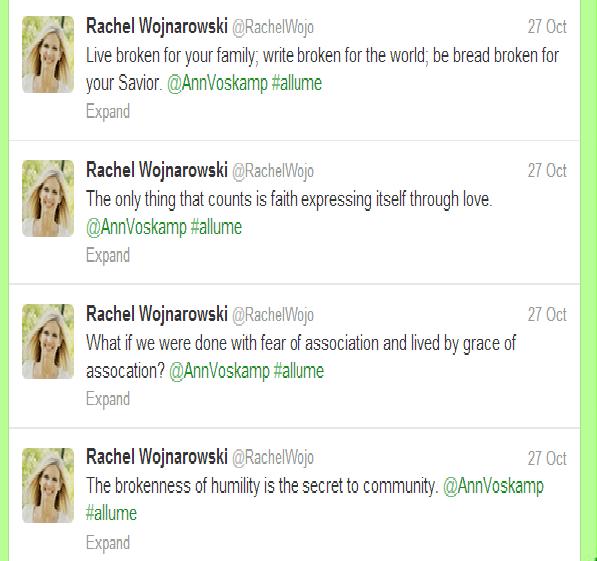 Ann Voskamp Allume tweets