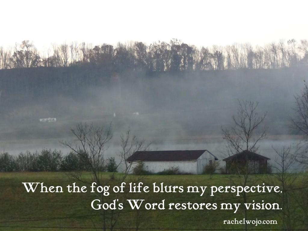 restoring my spiritual vision