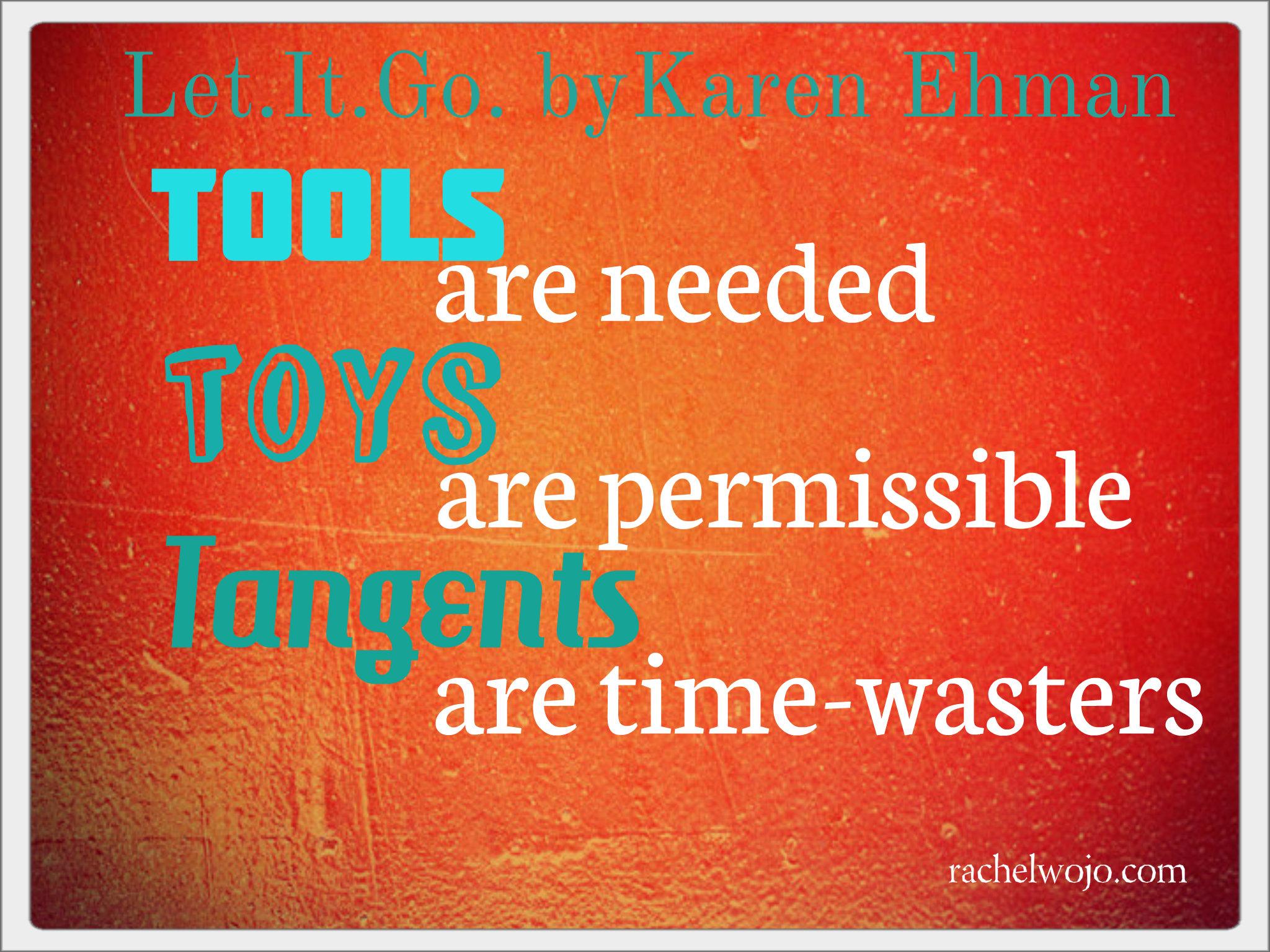 karen ehman let it go tools toys tangents
