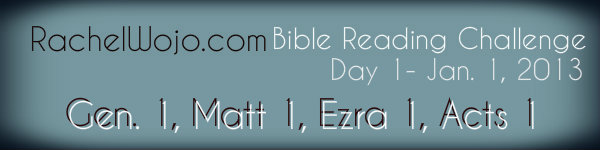 Happy New Year!! Day 1 Bible Reading Challenge