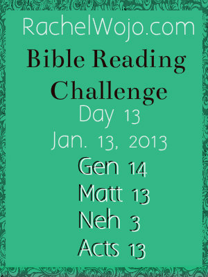 Day 13 Bible Reading Challenge
