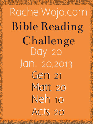 Day 20 Bible Reading Challenge