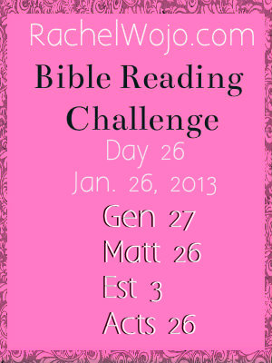 bible reading challenge day 26