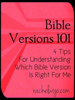 bible versions 101