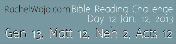 Day 12 Bible Reading Challenge
