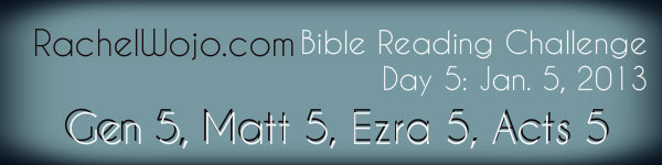 Day 5 Bible Reading Challenge