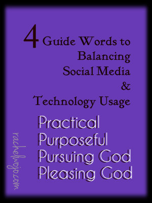 guidewords to balancing social media and technology usage