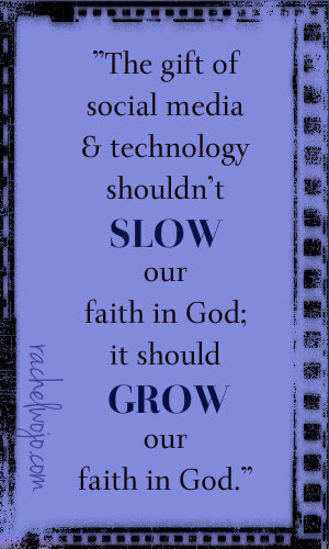 social media to grow our faith in God