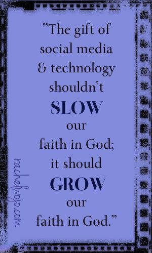 social media to grow our faith in God