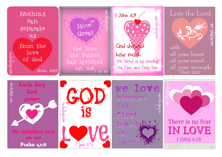 Bible verse valentines printable for Inspirational valentine crafts