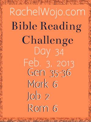 Day 34 Bible Reading Challenge