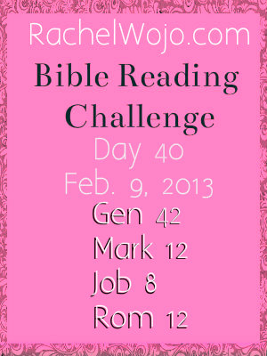 Day 40 Bible Reading Challenge