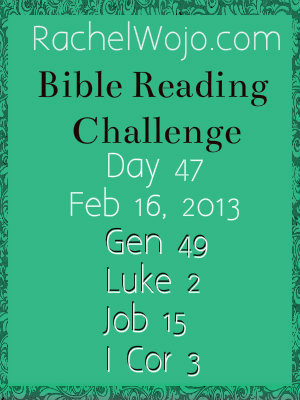 *New* Reader's Recap & Day 47 Bible Reading Challenge