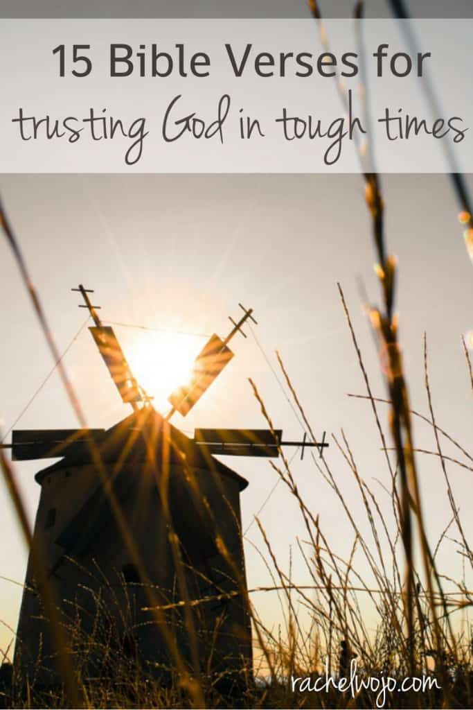 Does trusting God seem more difficult when times get tough? You're not alone. These Bible verses will remind you that our God is trustworthy, no matter the struggles you face.