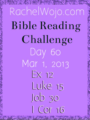 bible reading challenge day 60