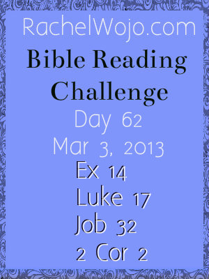 bible reading challenge day 62