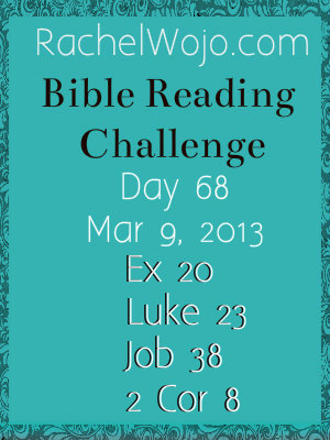 bible reading challenge day 68
