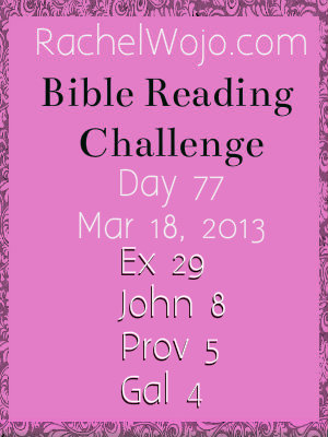 bible reading challenge day 77