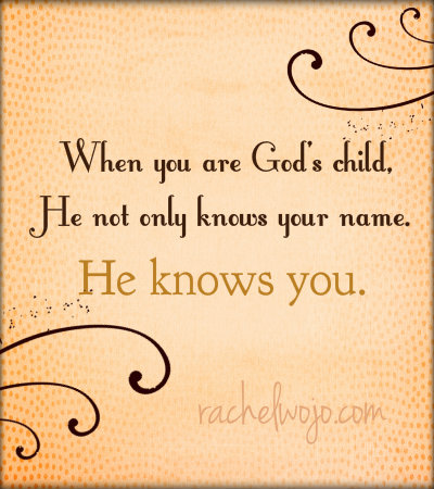 jesus knows your name