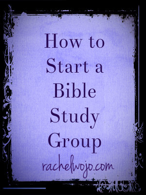how to start a bible study group