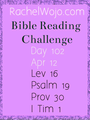 bible reading challenge day 102