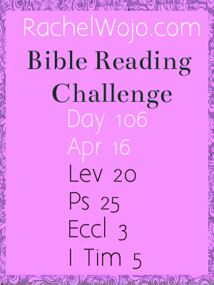 bible reading challenge day 106