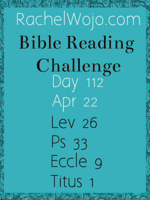 bible reading challenge day 112