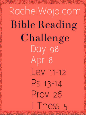 bible reading challenge day 98