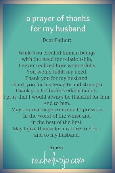 a prayer of thanks for my husband rachelwojo com