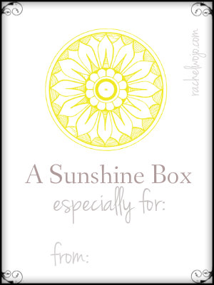 photograph regarding Basket of Sunshine Printable called How in the direction of Establish a Sun Box of Encouragement -