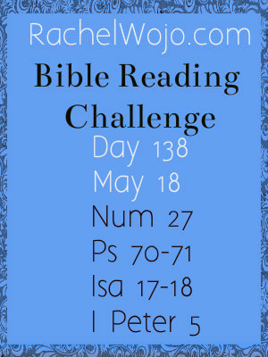 Bible Reading Challenge Day 138