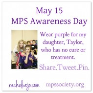 International MPS Awareness Day May 15