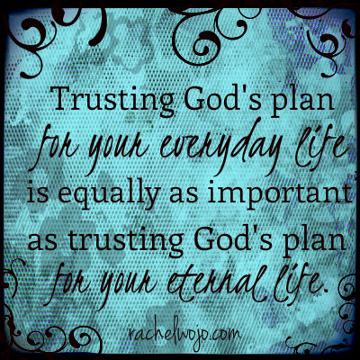 trusting gods plan