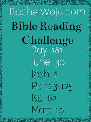 bible reading challenge day 181