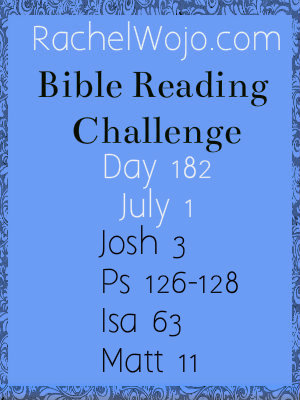 bible reading challenge day 182