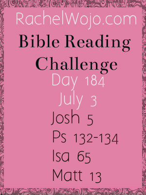 bible reading challenge day 184