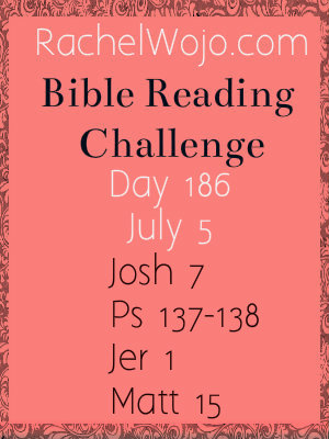 bible reading challenge day 186