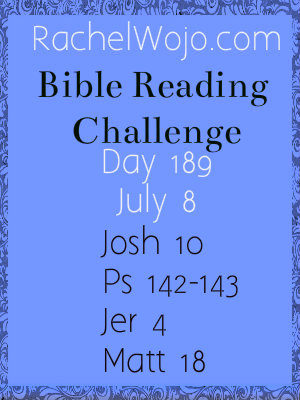 bible reading challenge day 189