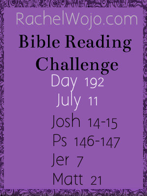 bible reading challenge day 192