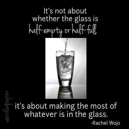 glass half empty or half full
