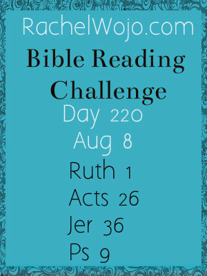 bible reading challenge day 220