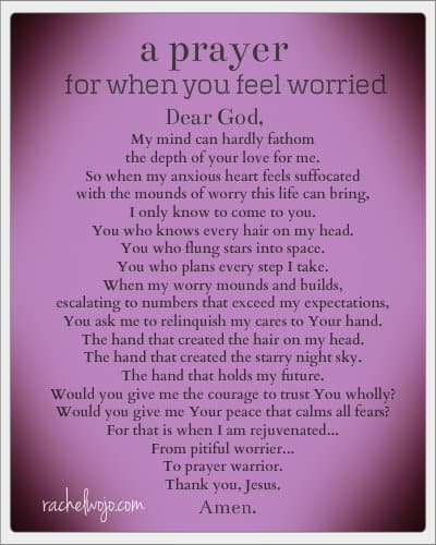 A Prayer for When You Feel Worried