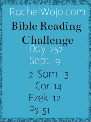bible reading challenge day 252