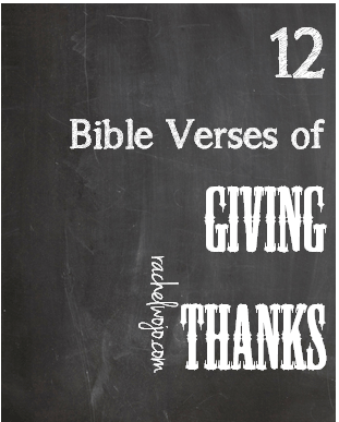 bible verses for giving thanks