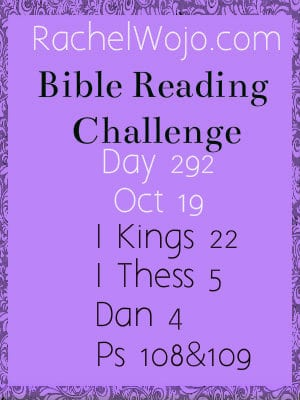 bible reading challenge day 292