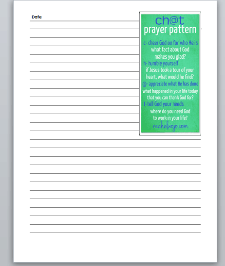 Crafty image with free printable prayer journal