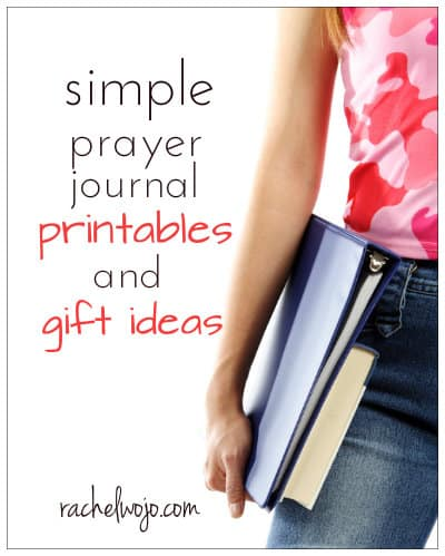 simple prayer journal printables and gift ideas