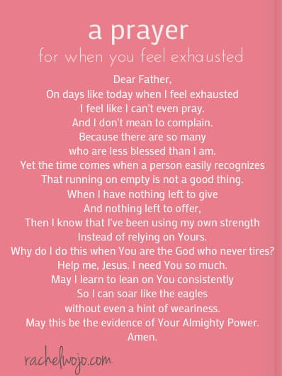 prayer when you feel exhausted